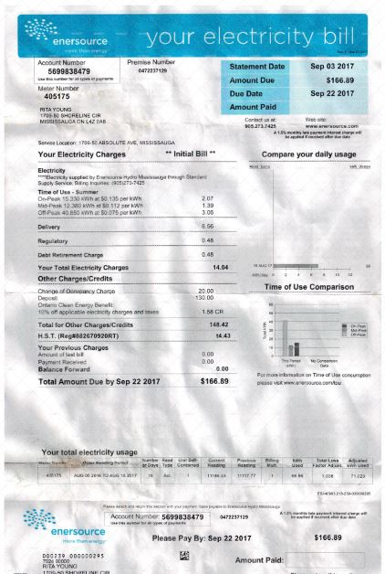 Canada Utility Bill Fake Canadian Documents For Accounts